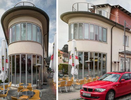 Geschäftshaus mit Eisdiele in Neusäß-Steppach
